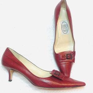 EMMA HOPE'S Stripped Kitten heel Pump shoes